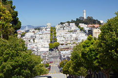 Lombard street, San Francisco, California Stock Image