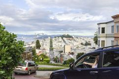 Lombard Street, San Francisco, California stock images