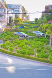 Lombard Street in San Francisco Stock Photos