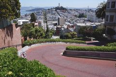 Lombard street. In san fransisco Stock Photography