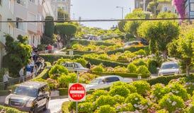 Lombard ulica w San Fransisco, usa zdjęcia royalty free
