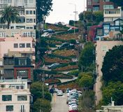 Lombardo Street view. San Francisco royalty free stock photography
