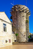 Lombardo Tower, Korcula Fotografia de Stock Royalty Free