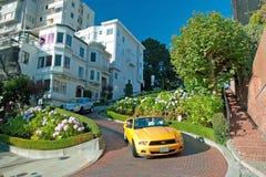 Lombardstraße in San Francisco Lizenzfreie Stockbilder