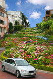 Lombardstraße, San Francisco, Kalifornien Lizenzfreies Stockfoto