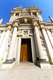 lombardy    in  the busto arsizio  old   church  closed Stock Photography