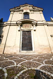 Lombardy    in  the carbonate   old   church   sidewalk italy Royalty Free Stock Photo