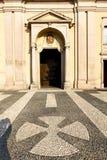 Lombardy    in  the castano primo     closed brick tower sidewa. Lombardy    in  the castano primo  old   church  closed brick tower sidewalk italy Stock Images