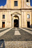 Lombardy    in  the castano primo    old   church  closed brick Royalty Free Stock Images
