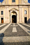 Lombardy    in  the castano primo    old   church  closed Stock Photography