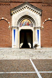 Lombardy    in  the castellanza    old   church  closed brick t Stock Images