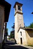 Lombardy    in  the castiglione olona    old   church  closed Royalty Free Stock Images