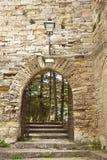Lombardy Castle. View of Lombardy Castle: �cortile della Maddalena o delle Vettovaglie� gate (Maddalena or Victuals courtyard gate), Enna, Sicily Stock Image