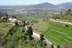 Lombardy countryside and outskirts of Milan, Italy Royalty Free Stock Photography