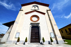 Lombardy    in  the crugnola   church  closed brick tower sidew Royalty Free Stock Image