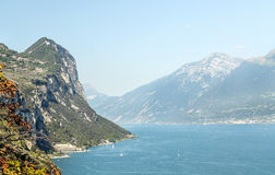 Lombardy lake. Surrounded by mountains on a sunny day Stock Photography