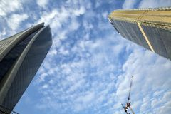 Lombardy -Milan - Italy - CityLife. The Generali tower and Allianz tower Stock Images
