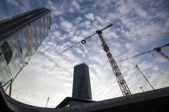 Lombardy -Milan - Italy - CityLife. The Generali tower and Allianz tower Royalty Free Stock Photo