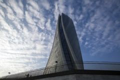 Lombardy -Milan - Italy - CityLife. The Generali tower or Hadid tower Stock Photography