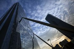 Lombardy -Milan - Italy - CityLife. The Generali tower and Allianz tower Royalty Free Stock Image