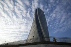 Lombardy -Milan - Italy - CityLife. The Generali tower or Hadid tower Stock Photos