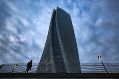 Lombardy -Milan - Italy - CityLife. The Generali tower or Hadid tower Stock Images