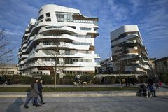 Lombardy -Milan - Italy - CityLife. The new apartment and residential home Royalty Free Stock Images