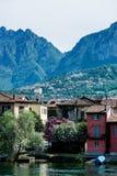 Lombardy område på sjön Como Arkivbild