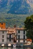 Lombardy område på sjön Como Royaltyfri Bild