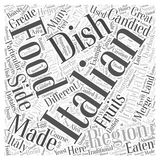 Lombardy The Other Side of Italian Food word cloud concept word cloud concept vector background Royalty Free Stock Photography
