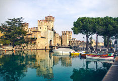 Lombardy Region - Sirmione fable castle Royalty Free Stock Image