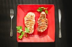 Lombo arrostito della carne di maiale Fotografia Stock