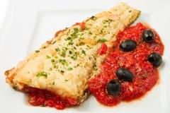 Lombo cozinhados do bacalhau Imagem de Stock