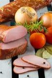 Lombo de carne de porco fumado de Apple Fumador de Digitas imagem de stock