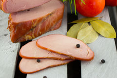 Lombo de carne de porco fumado de Apple Fumador de Digitas imagens de stock