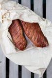 Lombo de carne de porco fumado de Apple Fumador de Digitas imagem de stock royalty free