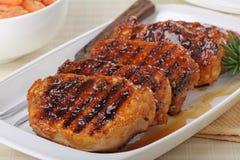 Lombo de carne de porco grelhado fotos de stock royalty free