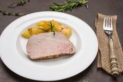 Lombo de carne de porco Roasted do iberico imagem de stock