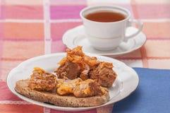 Lombo del pane tostato in lardo 2 Immagini Stock