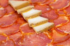 Lombo e formaggio iberici immagini stock libere da diritti