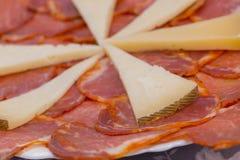 Lombo e formaggio iberici fotografie stock