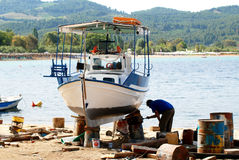 lombock острова Индонесии gili шлюпки около малого Стоковые Фотографии RF