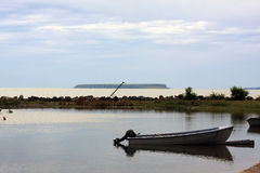 lombock острова Индонесии gili шлюпки около малого Стоковое Изображение RF