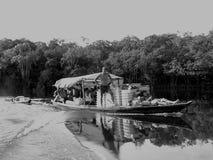 lombock för fartyggiliindonesia ö nära litet Arkivfoto