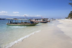Lombok circa September 2015:  Gili Trawangan, Lombok is main tourist attraction. Its attraction place in Lombok, Indonesia Stock Photos