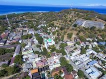 Lombok earthquake in Gili Trawangan frome above stock photography