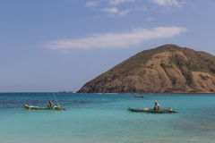 Lombok fiskare Royaltyfri Fotografi