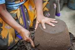 Lombok Island Pottery Maker Stock Image