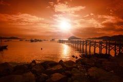Lombok landskap Arkivbilder