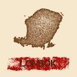 Lombok martwił mapę Obrazy Stock